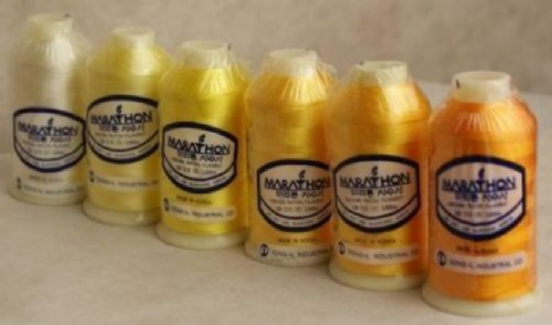 Marathon Embroidery Thread RAYON 6 Pack - Yellow